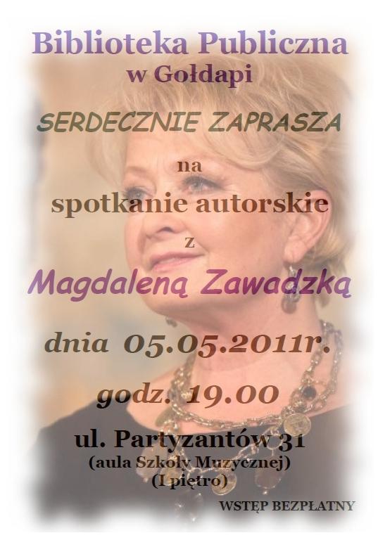 Spotkanie z Magdaleną Zawadzką