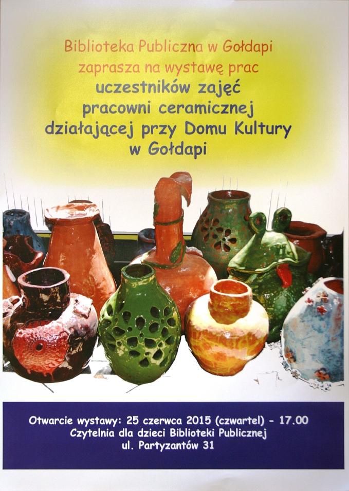 Wystawa prac pracowni ceramicznej