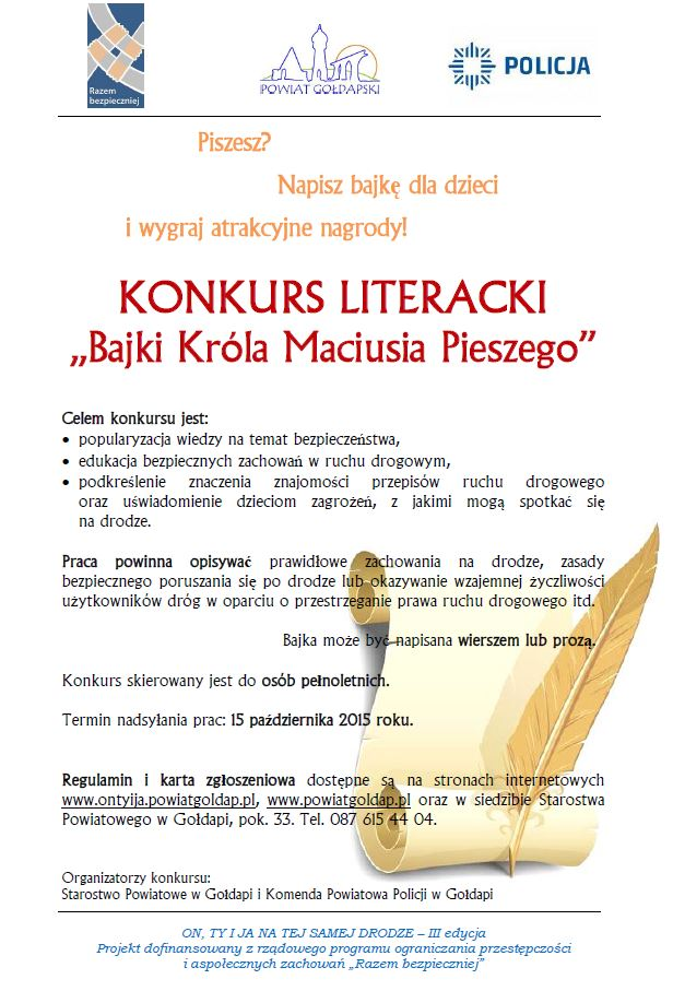 plakat konkurs literacki