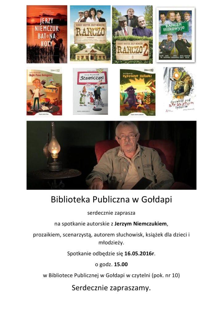 Spotkanie autorskie z Jerzym Niemczukiem